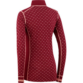 Kari Traa Lus Longsleeve Shirt met 1/2 rits Dames, port